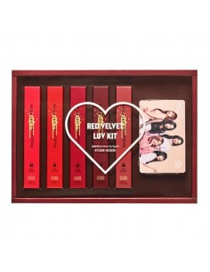 [Etude House] Matte Chic Lip Lacquer - Red Velvet Luv Kit