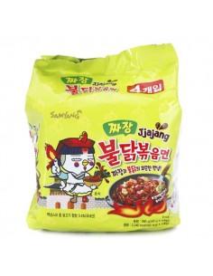 SAMYANG Jjajang Fire Hot Chicken Flavor Ramen 140g x 4EA