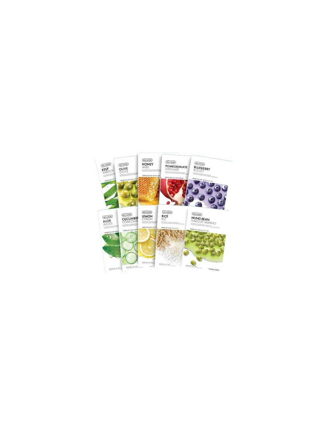 Thefaceshop Real Nature Mask Sheet 20kinds The Face Shop Kelp Coca Cola Oil Clear Pact 9g