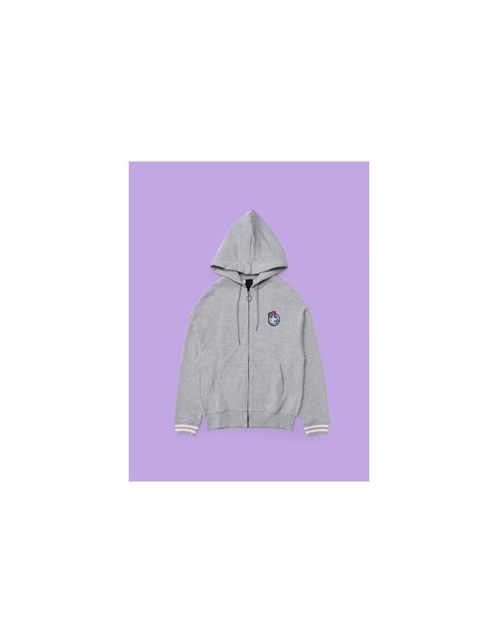 [BT21] VAN M-Gray Artwork Hoodie Zipup