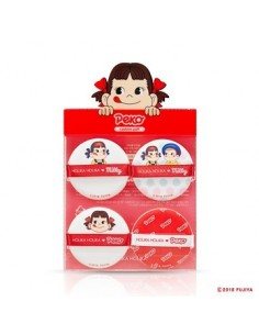 [Holika Holika] Sweet Peko Edition - Hard Cover Cushion Puff(4EA)
