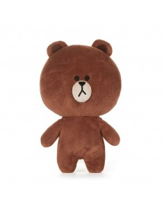 [LINE FRIENDS Official Goods] Brown Plush Standing Doll M (Season5)