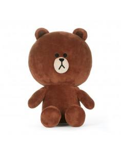 [LINE FRIENDS Official Goods] Brown Plush Sit Down Doll M (Season5)