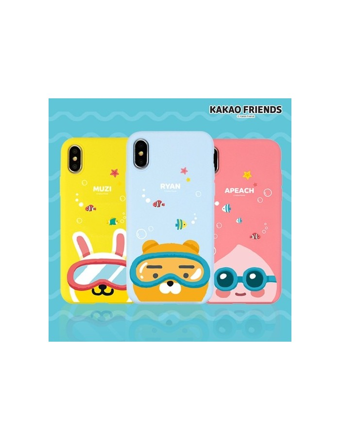 [ KAKAO FRIENDS ] KAKAO Under The Sea Soft Case - For iPhone