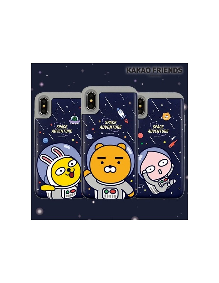 [ KAKAO FRIENDS ] KAKAO Space Card Bumper Case - For iPhone