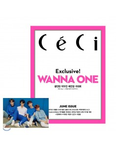 Magazine CeCi 2018-6 Wanna One Type.A + Poster
