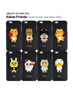 [ KAKAO FRIENDS ] KAKAO Double Bumper  Case Black Edition For iPhone