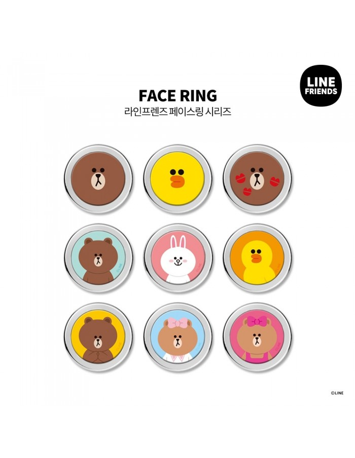 [LINE FRIENDS Goods] Face Phone Ring