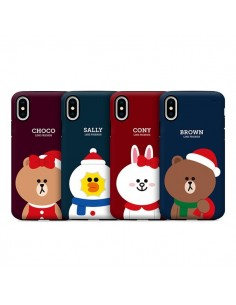 [LINE FRIENDS Goods] Jungle Brown Pattern Clear Jelly Phone Case