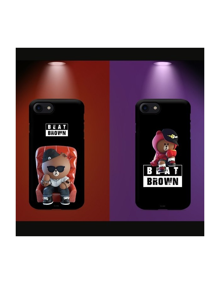 [LINE FRIENDS Goods] Guard Up Beat Brown What's Up Phone Case