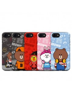 [LINE FRIENDS Goods] Guard Up Beat Brown I'm Beat Phone Case