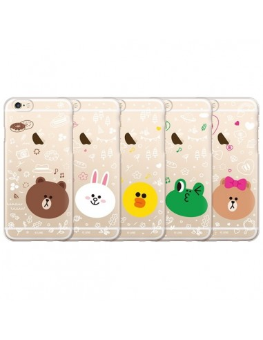 [LINE FRIENDS Goods] Clear Jelly Ice Cream Phone Case