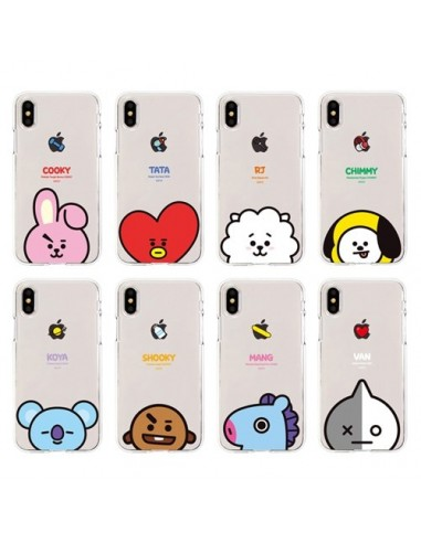 the latest 43433 dd6a5 [BT21] Clear Jelly Phone Case