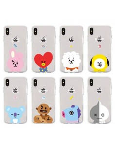 [BT21] Clear Jelly Phone Case