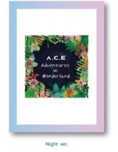 A.C.E REPACKAGE Album  - A.C.E Adventures in Wonderland CD + Poster [NIGHT Ver]