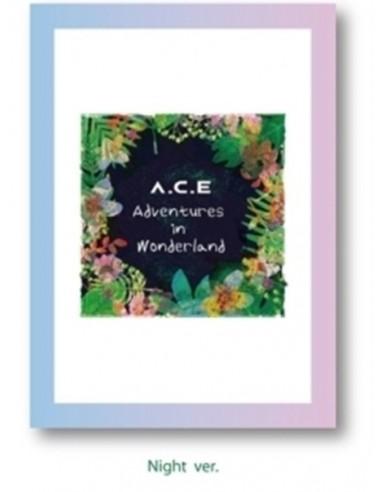 A.C.E REPACKAGE Album  - A.C.E Adventures in Wonderland CD + Poster [NIGHT Ver]