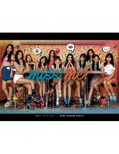 I.O.I Mini 2nd Album - MISS ME CD + Poster