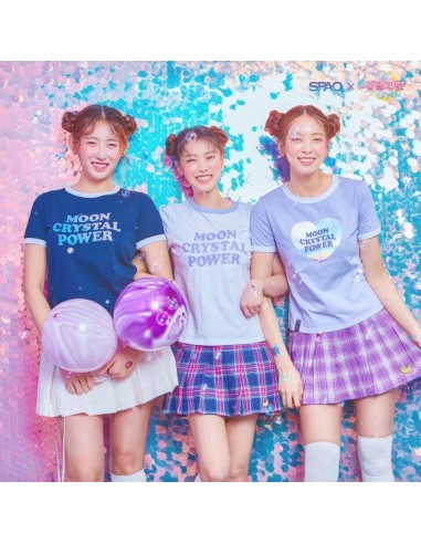 [S334] Moon Crystal Power Ringer Short Sleeve T-shirt