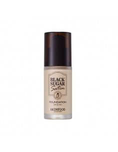[Skin Food] Black Sugar Satin Powder Pact SPF25 PA++  10g