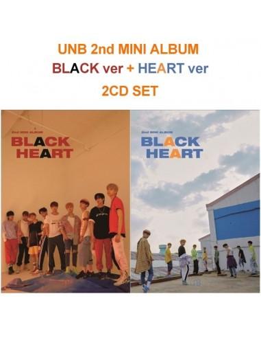 UNB 2nd Mini Album - Black Heart(Heart ver) CD + Poster