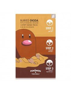 [TONYMOLY] POKEMON Buried DIGDA 3-Step Nose Pack 6g