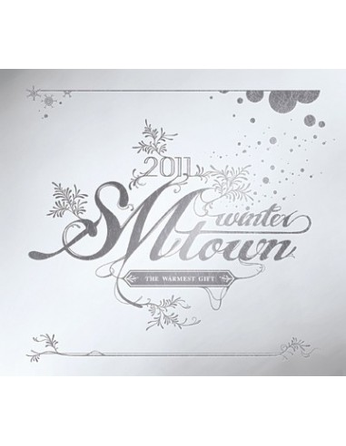 2011 SM Town Winter - The Warmest Gift CD + Poster Silver Cover