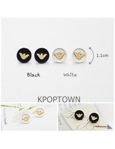 [GS02] Girlish Armani Style Solid Logo Earring