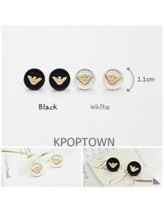 [GS02] Girlish Armani Style Solid Logo Earring