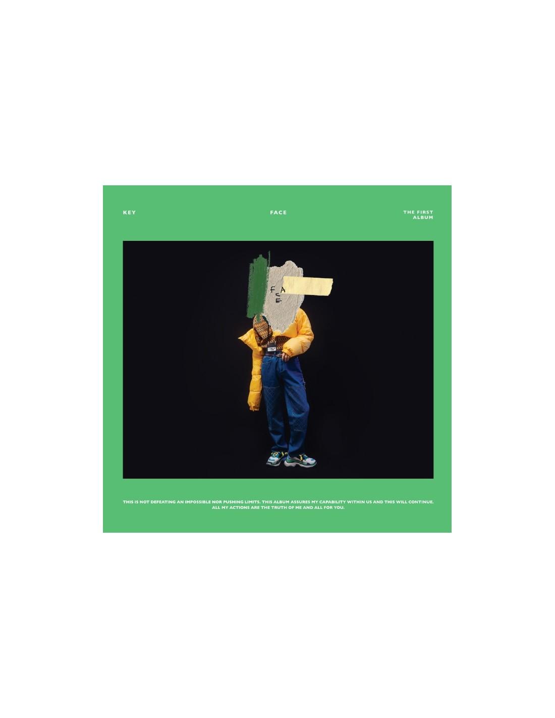 KEY 1st Album - FACE (Random Ver ) CD + Poster