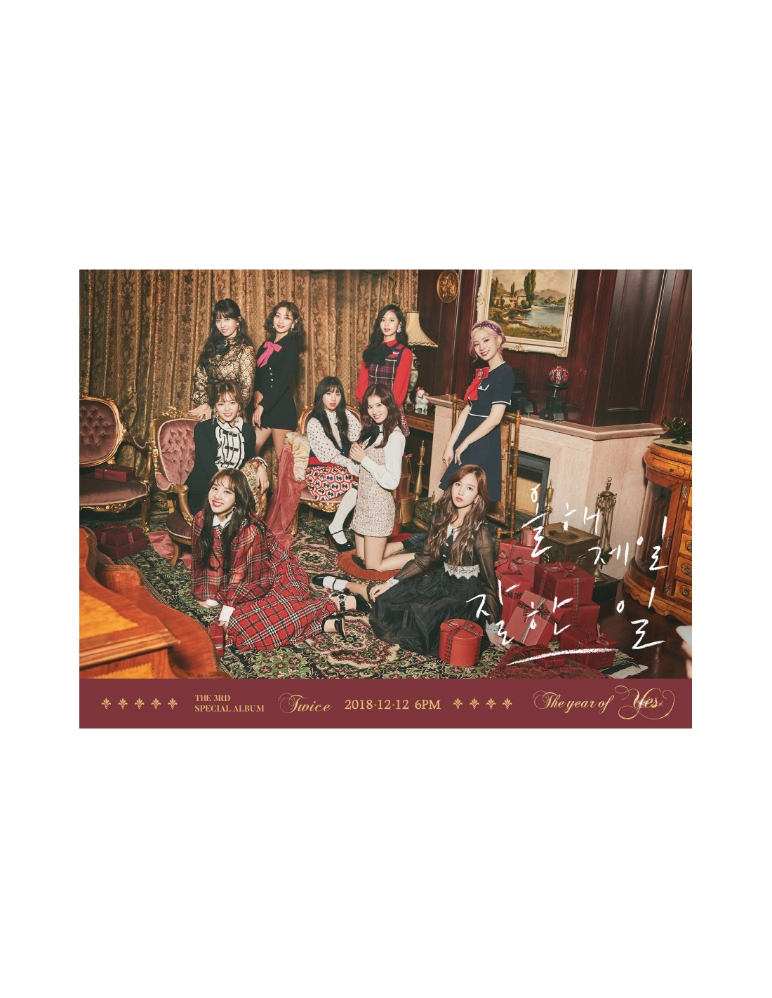TWICE 3rd Special Album - The Year Of YES (Random Ver) CD + Poster
