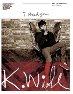 K.Will 3rd Mini Album I need you 니가 필요해 CD + Poster