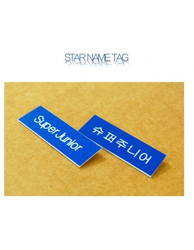 STAR Name Tag Badge of Super Junior