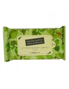 [Thefaceshop] Herb Day Lip & Eye Remover Pad