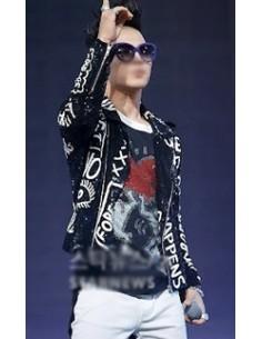 [S43] BigBang Tae-Yang Style Keith-Haring LOVE Short-sleeves T-shirts