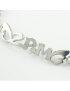 [PM13] 2PM Titanium Steel Name Necklace